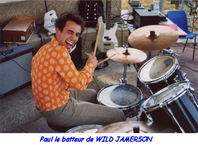 Paul le batteur du groupe WILD JAMERSON