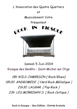 Affiche du 1èr Rock'in Kiosque