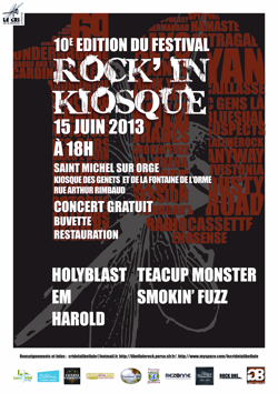 Affiche du 10ème Rock'in Kiosque