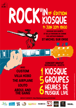 Affiche du 11ème Rock'in Kiosque