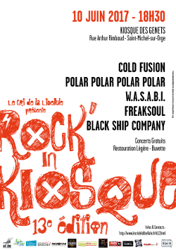 Affiche du 13ème Rock'in Kiosque