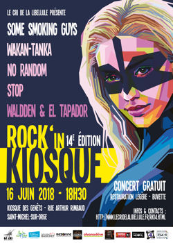Affiche du 14ème Rock'in Kiosque