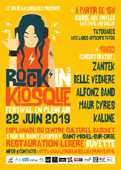 Affiche du 15ème Rock'in Kiosque