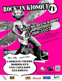 Affiche du 4ème Rock'in Kiosque
